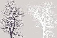 Фотообои на флизелиновой основе - Темное и светлое дерево на бежевом фоне (ширина рулона -1,03м)