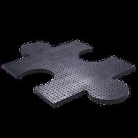 Резиновая плита <<Пазл>> чёрного цвета