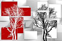 Фотообои на флизелиновой основе - Белое и черное дерево 3Д(ширина рулона -1,03м)