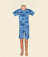 Комплект детский футболка + бриджи камуфляж кулир