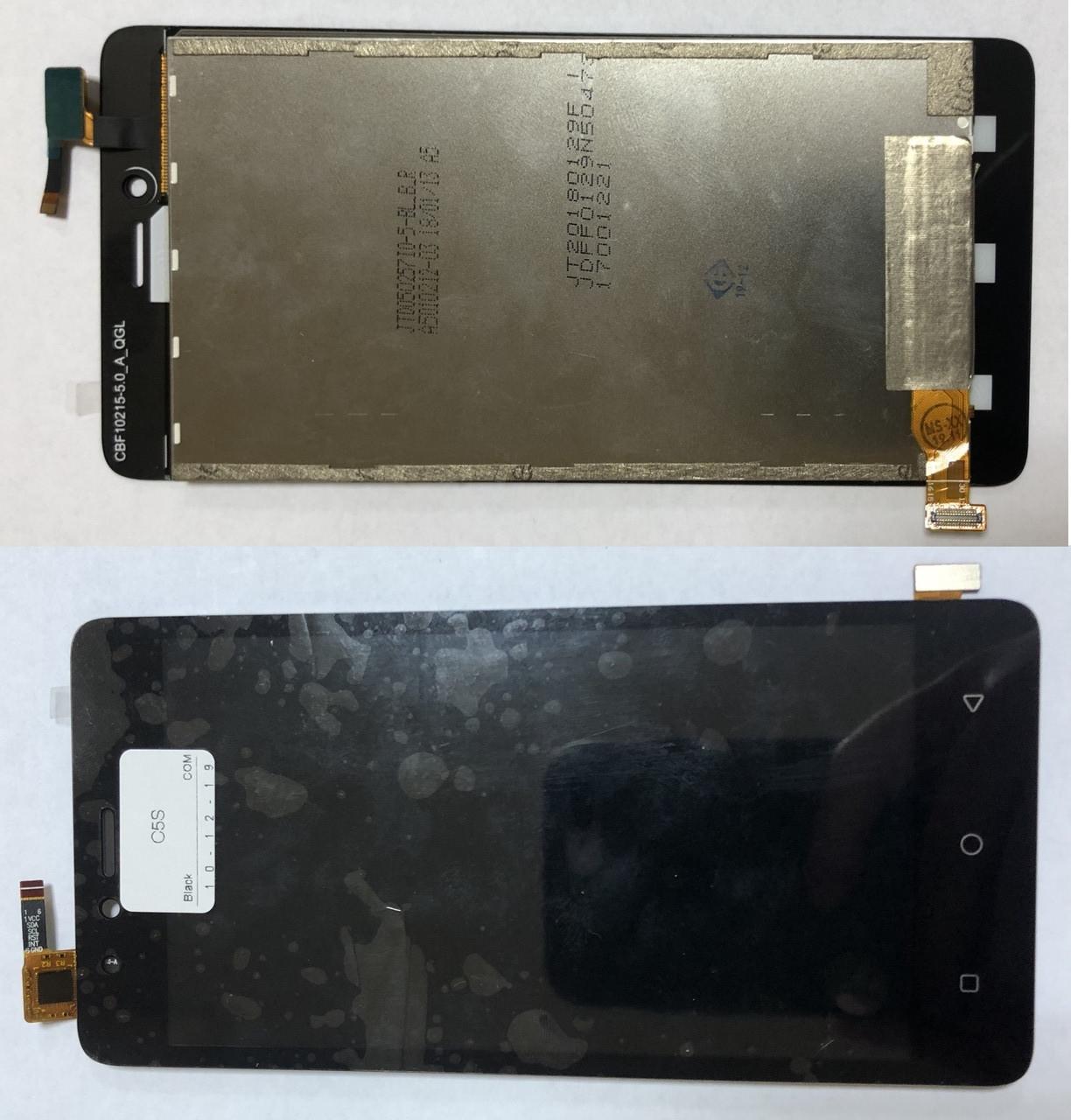 Дисплей модуль для TP-Link Neffos C5a, C5S TP704A в зборі з тачскріном, чорний