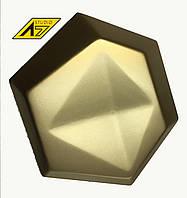 3Д панель Сота Ромб из гипса Premium GOLD A7Studio