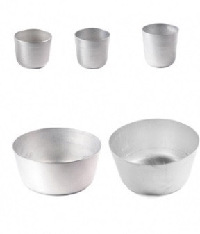 Форма для выпечки пасхи Полімет  750мл d12 см h9,5 см литой алюминий (3066)