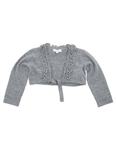 Детское болеро для девочки Нарядная одежда для девочек Одежда для девочек 0-2 Krytik Италия 84295/kn/00a серый