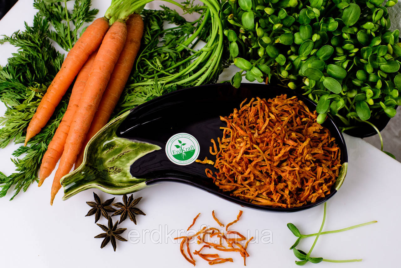Морковь сушеная, 3*5*5, 1 кг.