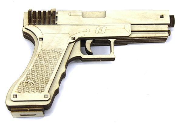 Конструктор пистолет Глок 19 (Glock) 64 детали
