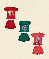 Комплект детский футболка + шорты однотонные накат кулир