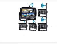 """Бездротова AHD система відеофіксації 7,0"""" спліт екран з 2-ма бездротовими камерами з функцією запису 4"""