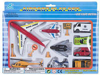 Игрушечный набор мини транспорта  Аэропорт  12 элементов