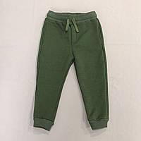 Штаны темно-зеленые с начесом на мальчика р.92 (2 года)