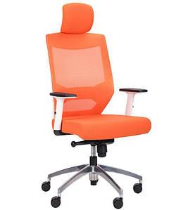 Кресло Admin White Alum Orange/Orange