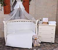 """Детский постельный комплект Veres """"Cream Ivy"""" 7 единиц, фото 1"""