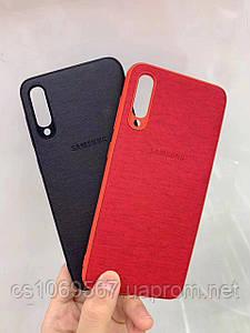 TPU+Leather чехол Logo для Samsung Galaxy A70 (A705F)