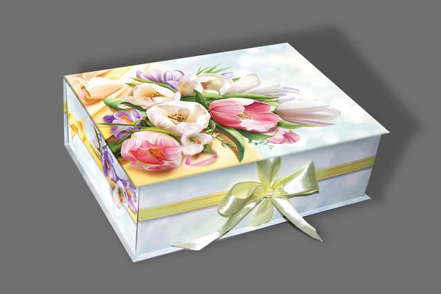 подарочная коробка с лентой фото