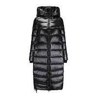 Женское пальто-пуховик теплое зимнее стеганое, черное матовый металлик , размеры XS,   M,  L, XL, 2XL, фото 1
