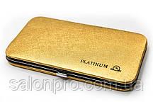 Чехол магнитный Platinum на 6 пинцетов золотой