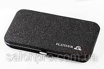Чехол магнитный Platinum на 6 пинцетов черный с блестками
