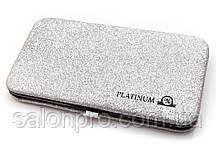 Чехол магнитный Platinum на 6 пинцетов серебряный с блестками