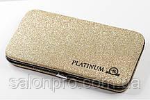 Чехол магнитный Platinum на 6 пинцетов золотой с блестками