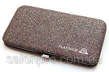 Чехол магнитный Platinum на 6 пинцетов мультиколор с блестками