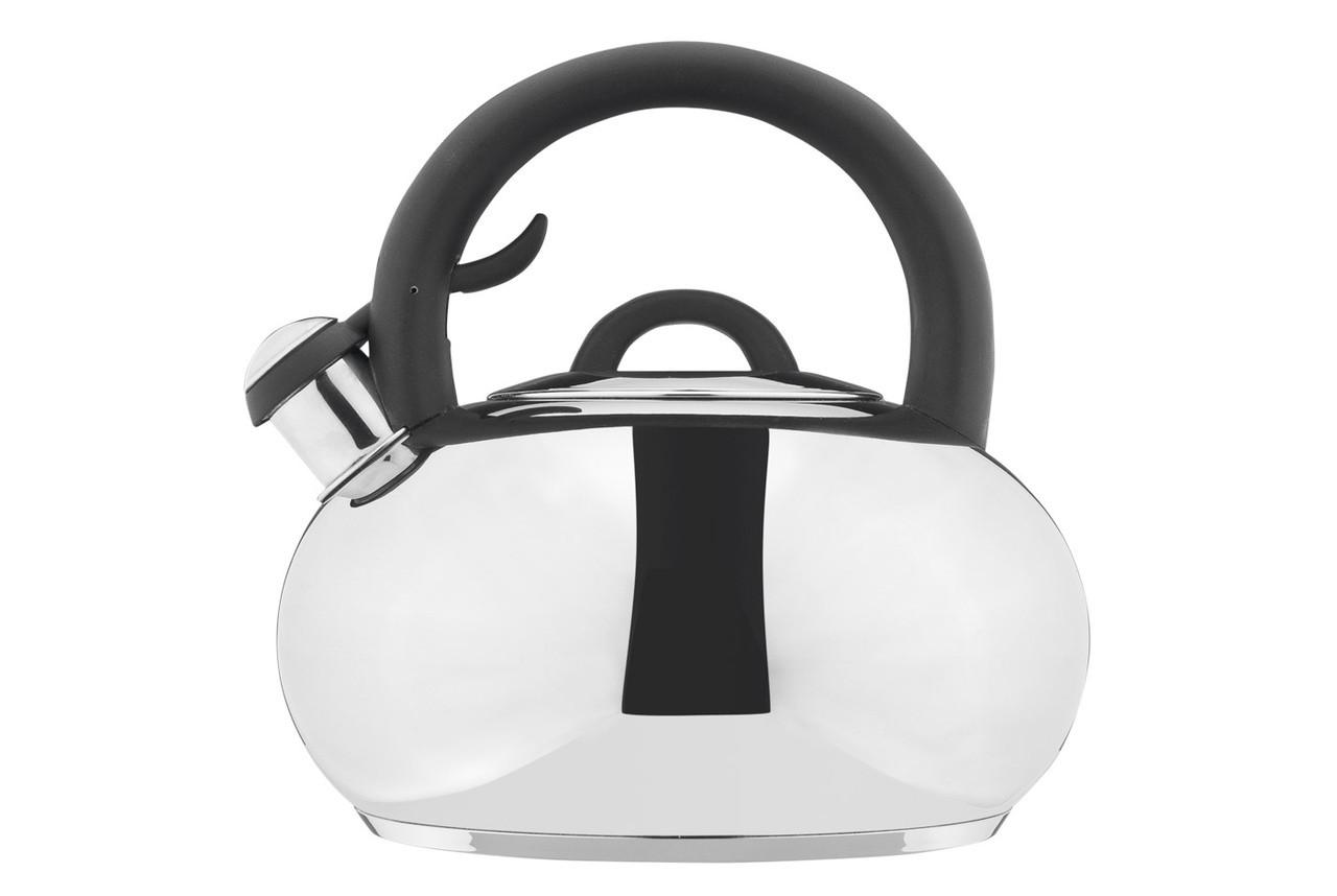 Чайник Vinzer Melody 3,5 л нержавійка, Чайник зі свистком з нержавійки, Чайник з ручкою і кришкою нержавійка