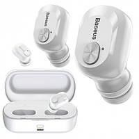 Бездротові навушники Baseus з зарядним кейсом Encok W01 TWS, White (NGW01-02)