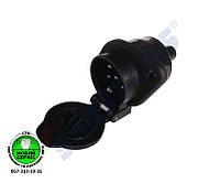 Вилка электрическая без штыря (S-TYPE) пластик | SERTPLAS EN4817FF