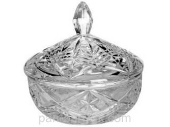 Конфетница Bohemia Pinwheell с крышкой d15 см богемское стекло (b59001-99030/150)