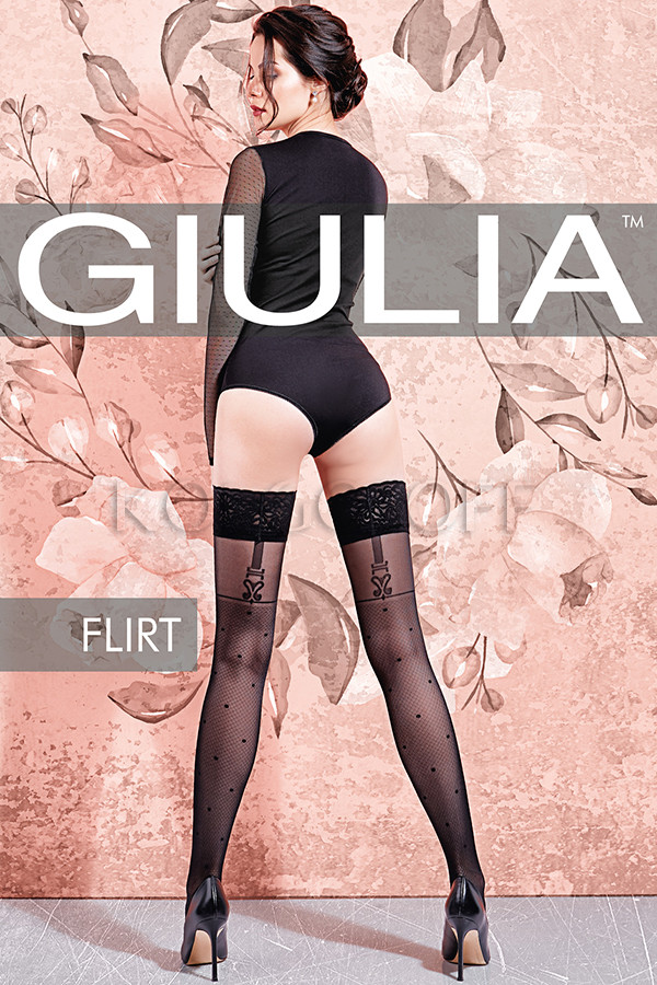 Чулки с узором GIULIA Flirt 40 model 2