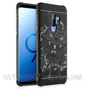 TPU+PC чехол Черный дракон для Samsung Galaxy S9+