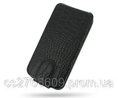 "Чехол / Чохол-книжка ""Croco Case"" LG L70 чорний"
