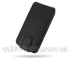 """Чехол книжка """"Croco Case"""" LG L70 чорний"""