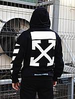 Худи унисекс в стиле Off White Cross черное ( только L и XL)