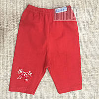 Детские спортивные шорты р. 80-86 для девочки ткань ИНТЕРЛОК 100% хлопок 4217 Красный