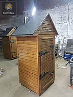 Электростатическая Коптильня 1300л -холодного и горячего копчения, +просушка. Ольха внутри, крыша домиком