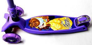 Трехколесный Детский Самокат со складной ручкой Maxi Disney, фото 2