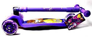 Трехколесный Детский Самокат со складной ручкой Maxi Disney, фото 3