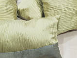 Комплект подушек Салатовая с серым жаточка, 4шт, фото 3