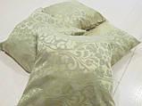Комплект подушек горчичная с серым цветочки, 4шт, фото 2