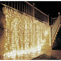 Гирлянда Водопад 2 х гирлянда штора желтая 2*2м, 300 LED, (Штора, Занавес, Дождь, Curtain lights)