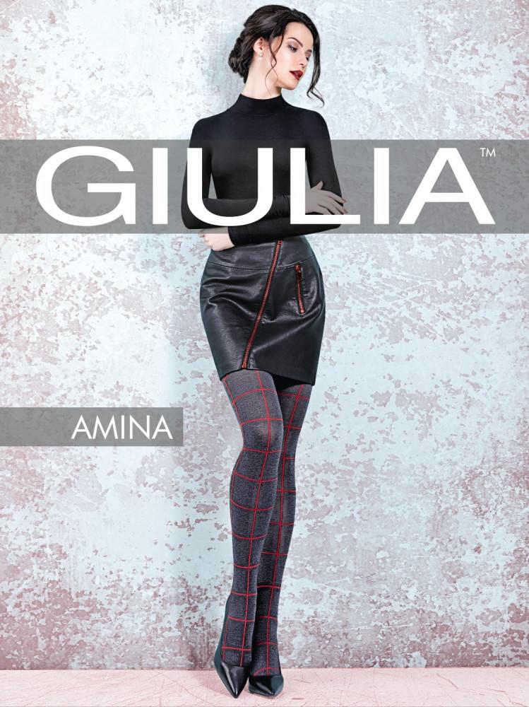 Фантазийные колготки с узором в клетку Giulia Amina 60 den model 1