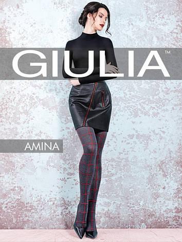 Фантазийные колготки с узором в клетку Giulia Amina 60 den model 1, фото 2
