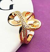 Жіноча каблучка, медичне золото Xuping. Розмір 18,19,20