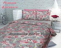 """Комплект постельного белья """"Розовый фламинго-4"""" Бязь,100% хлопок"""