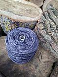 Полушерсть пряжа секционного крашения серый и темно-серые цвета, фото 4