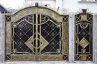 Элитные кованые ворота с калиткой, код: 01097