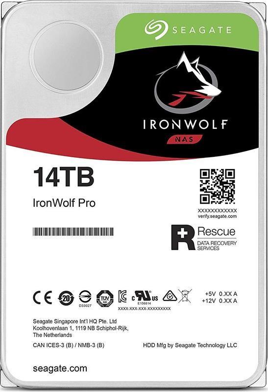 Накопитель HDD SATA 14.0TB Seagate IronWolf Pro NAS 7200rpm 256MB (ST14000NE0008)