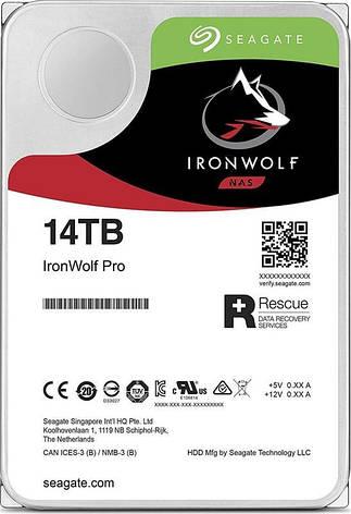 Накопитель HDD SATA 14.0TB Seagate IronWolf Pro NAS 7200rpm 256MB (ST14000NE0008), фото 2