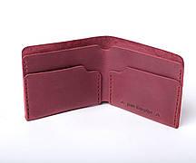 Шкіряний гаманець «Gomin Marsala» жіночий Бордовий (10,5x8,5 см) ручної роботи