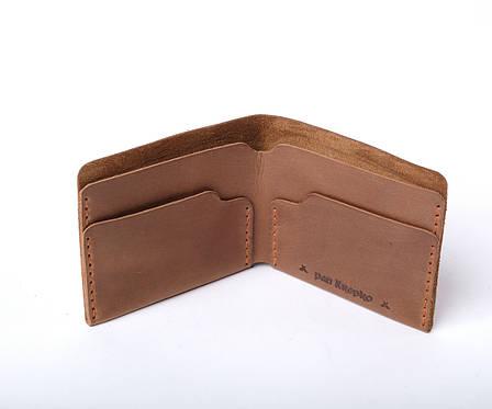 Шкіряний гаманець «Gomin Olive» жіночий Оливковий (10,5x8,5 см) ручної роботи, фото 2